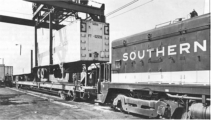 Southern's Rail-Highway piggyback ramp in Cincinnati